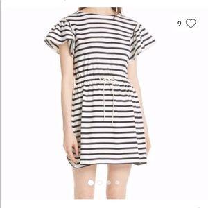 Cotton Kate spade drawstring summer striped dress